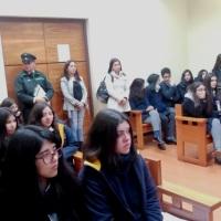 JUZGADO DE GARANTÍA DE SAN FERNANDO REALIZA CHARLA Y VISITA GUIADA A ESTUDIANTES