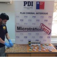 PDI INCAUTA MAS DE 310 DOSIS DE DROGAS EN SAN FERNANDO