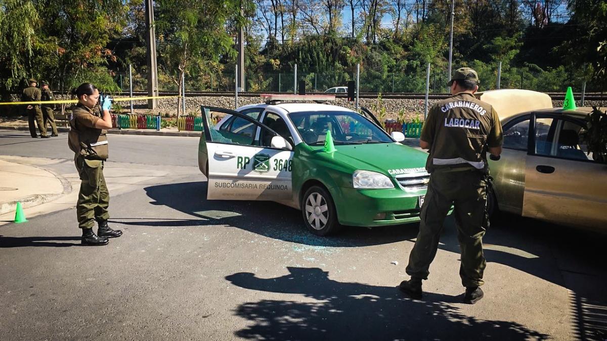 Persecución policial deja dos detenidos en Requínoa: individuos dispararon contra Carabineros